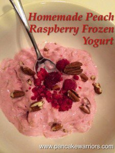 Peach Raspbery Frozen Yogurt