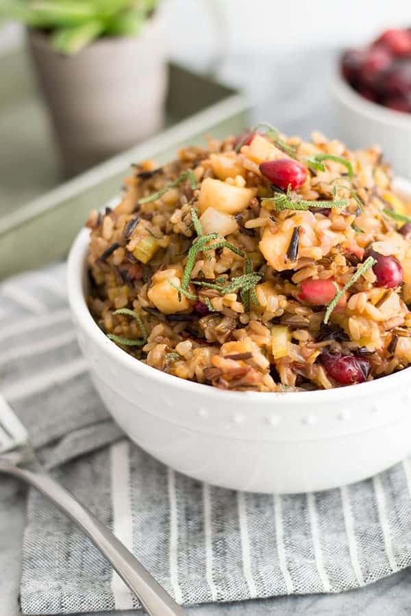 Wild Rice Stuffing a great side dish