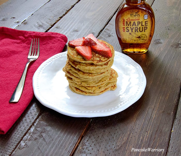 Peanut Butter Pancakes on a plate