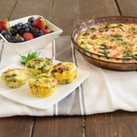 Crustless Quiche with fruit