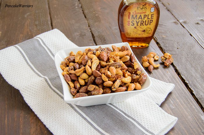 maple candied mix nuts are low carb