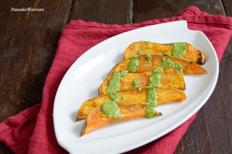 Oven Baked Sweet Potato Fries on a plate