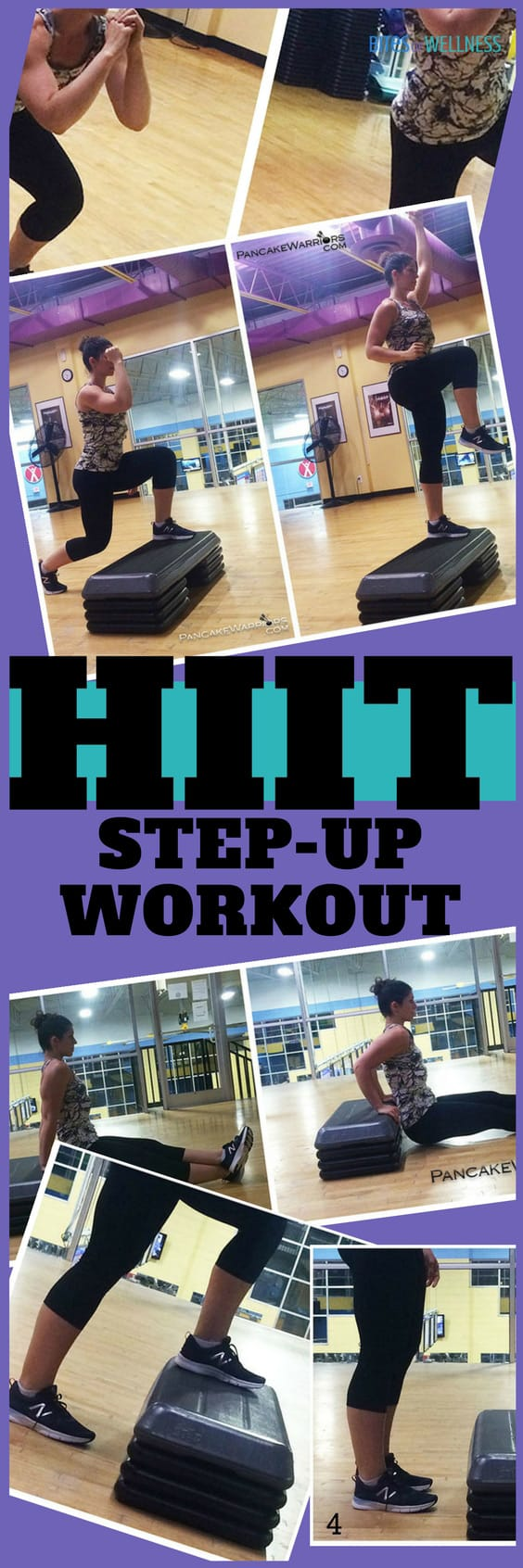 This step up hiit workout will get you moving and grooving and sweating fast! | https://bitesofwellness.com