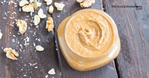 walnut cashew coconut butter in a ramekin