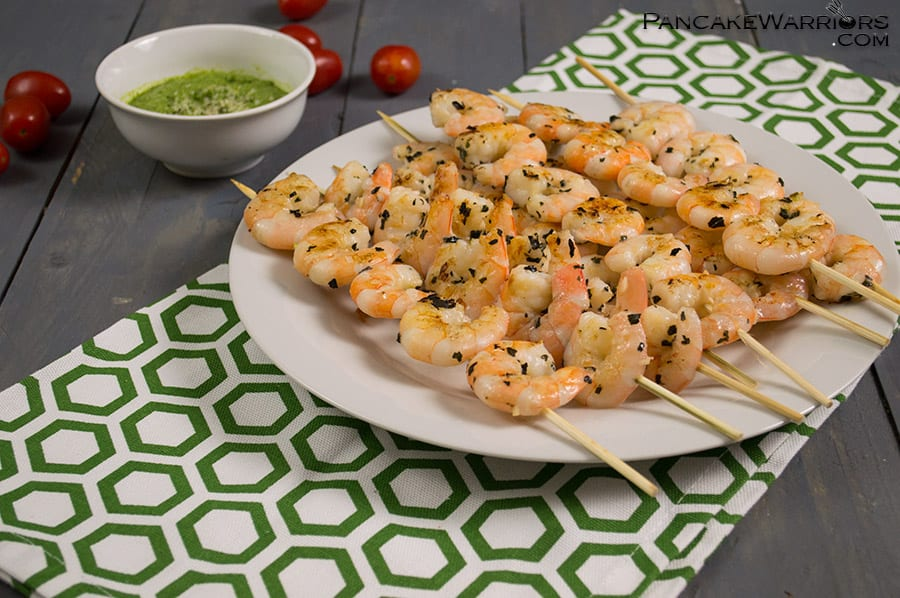 Grilled Shrimp with pesto