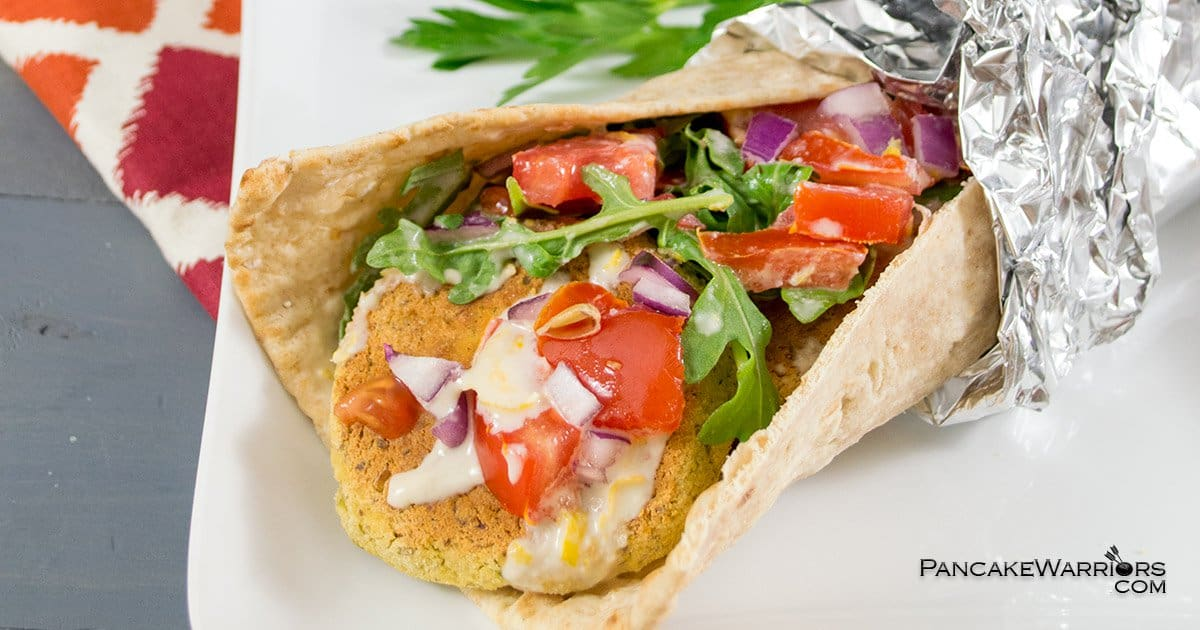 This Falafel Recipe is low fat, vegan, gluten free, and baked to keep them heart healthy and figure friendly. | www.PancakeWarriors.com