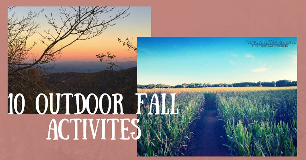 10 fall activities - sunset and corn field