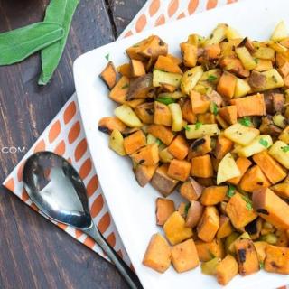 quick apple sweet potato hash