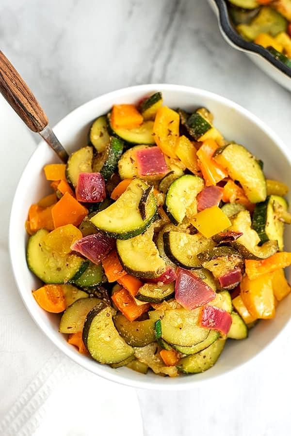 Greek Vegetables in a big bowl