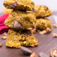 Pecan Chocolate Chunk Cookies Stacked
