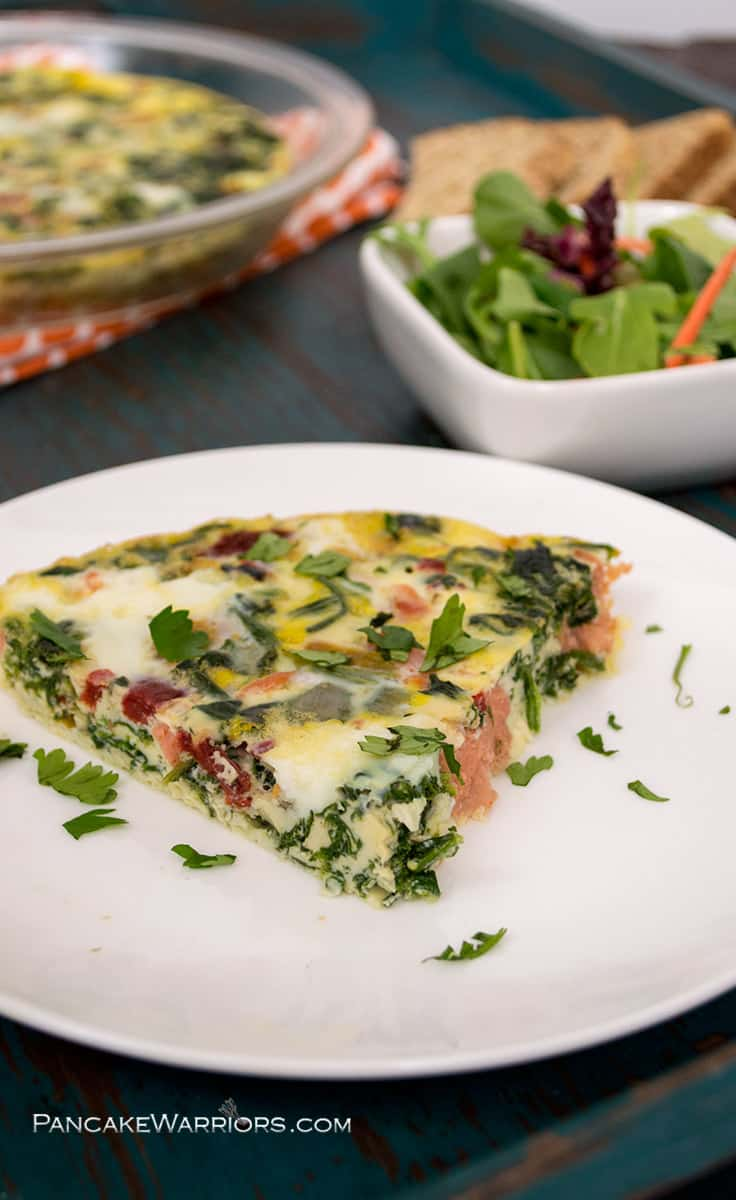 Smoked Salmon Frittata Fast And Healthy Breakfast