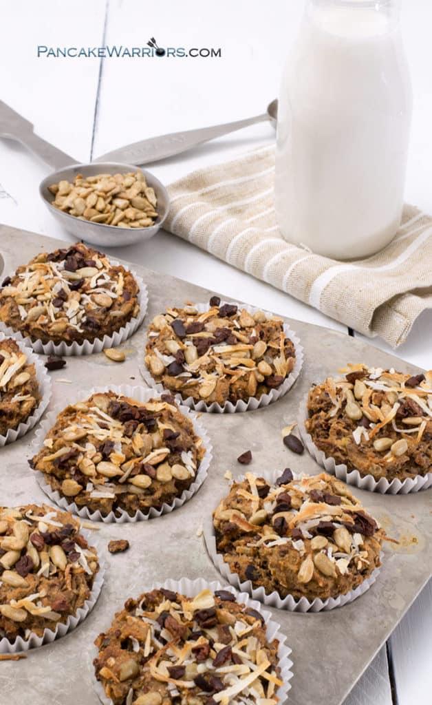 quinoa coconut banana muffins are allergy friendly