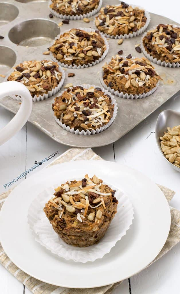 quinoa coconut banana muffins on a plate