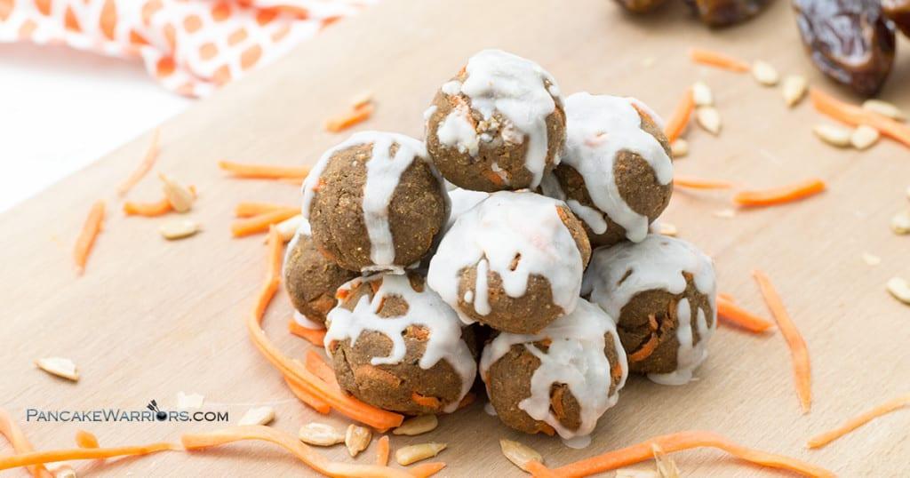 no-bake carrot cake energy bites are gluten free