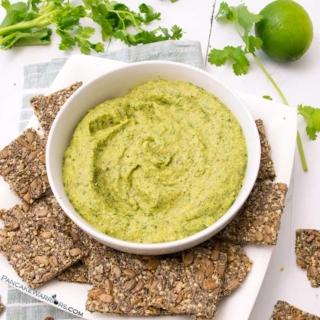 paleo avocado zucchini hummus - perfect gluten free snack