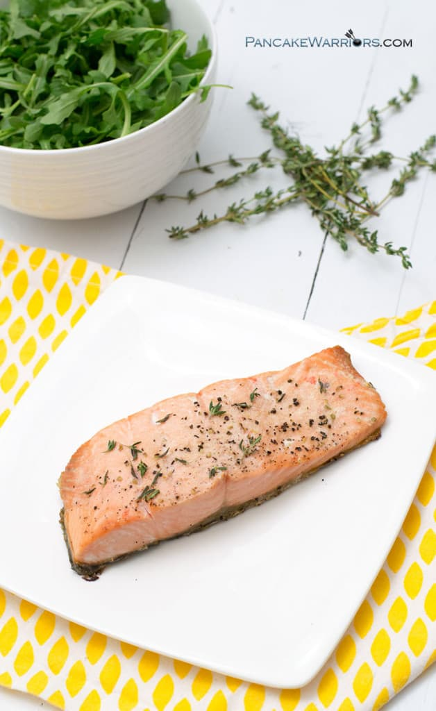 salmon recipe on a plate