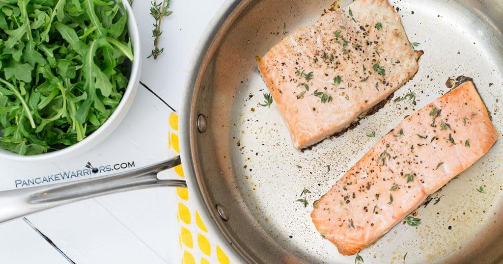 salmon recipe in a pan