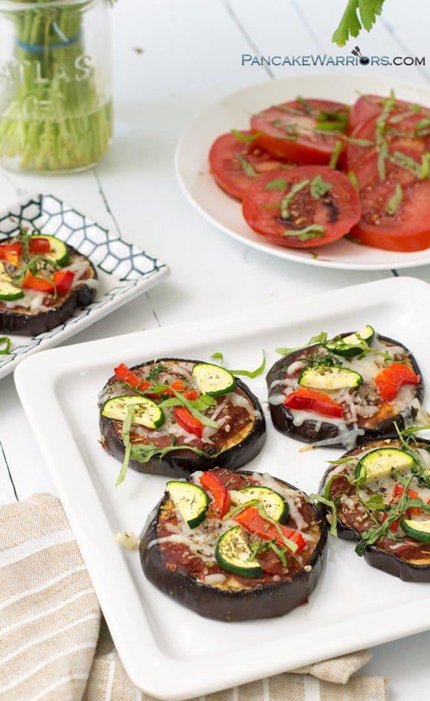 simple vegetable eggplant pizza is gluten free
