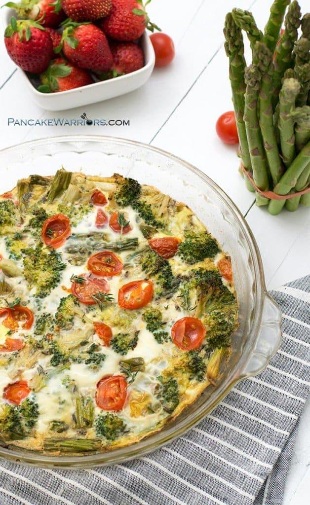 spring veggie frittata with asparagus