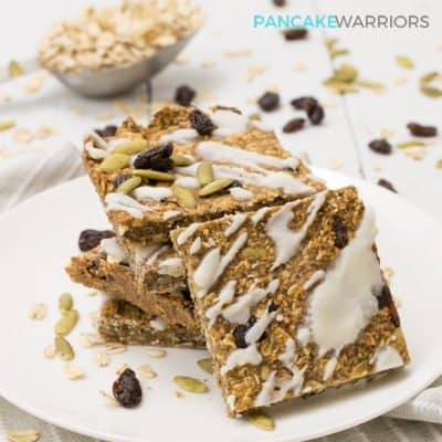 cinnamon raisin oatmeal protein bars