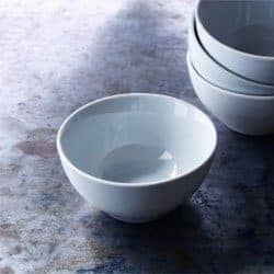 small white snack bowls