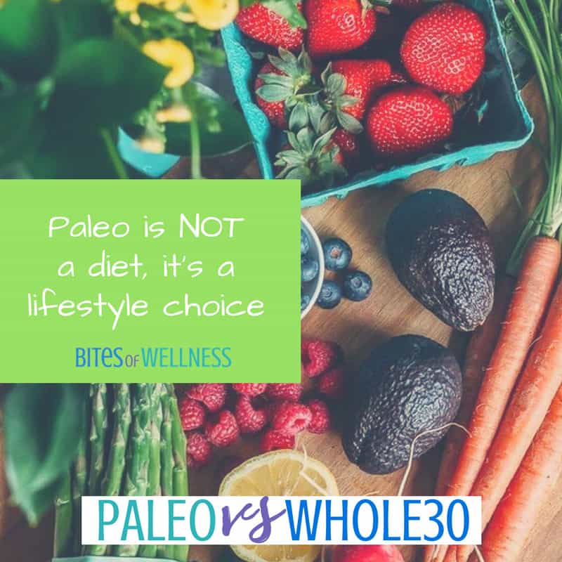 So what is the difference between Paleo vs Whole30 and which one is right for you? Is there an advantage to doing one over the other? | BitesofWellness.com