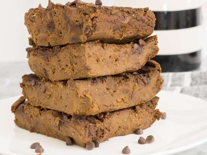 A stack of delicious sweet potato brownies