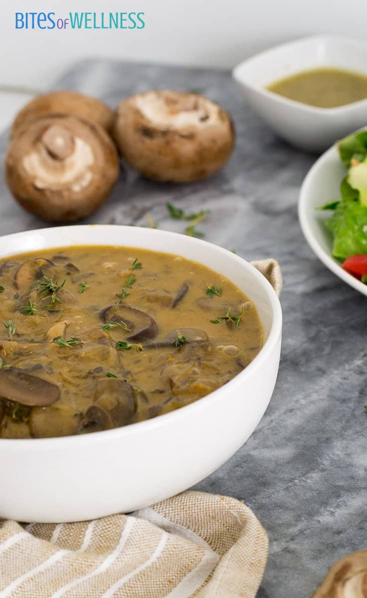 This is the best mushroom soup you will ever have!  | https://bitesofwellness.com