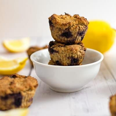 Protein Packed Lemon Blueberry Muffins (vegan, gluten free)