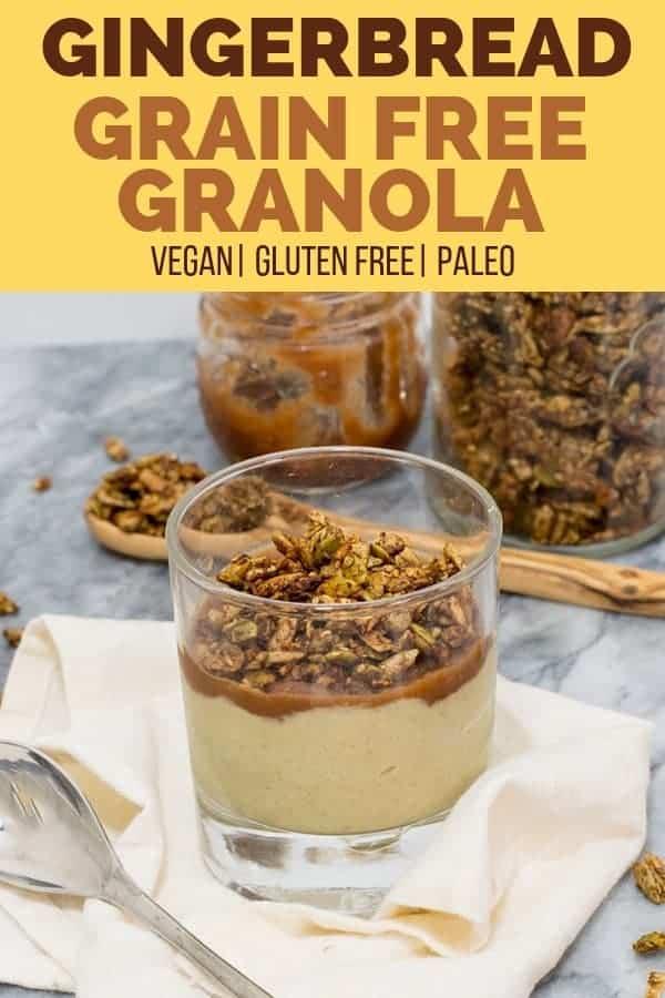 Gingerbread grain free granola as a yogurt topping