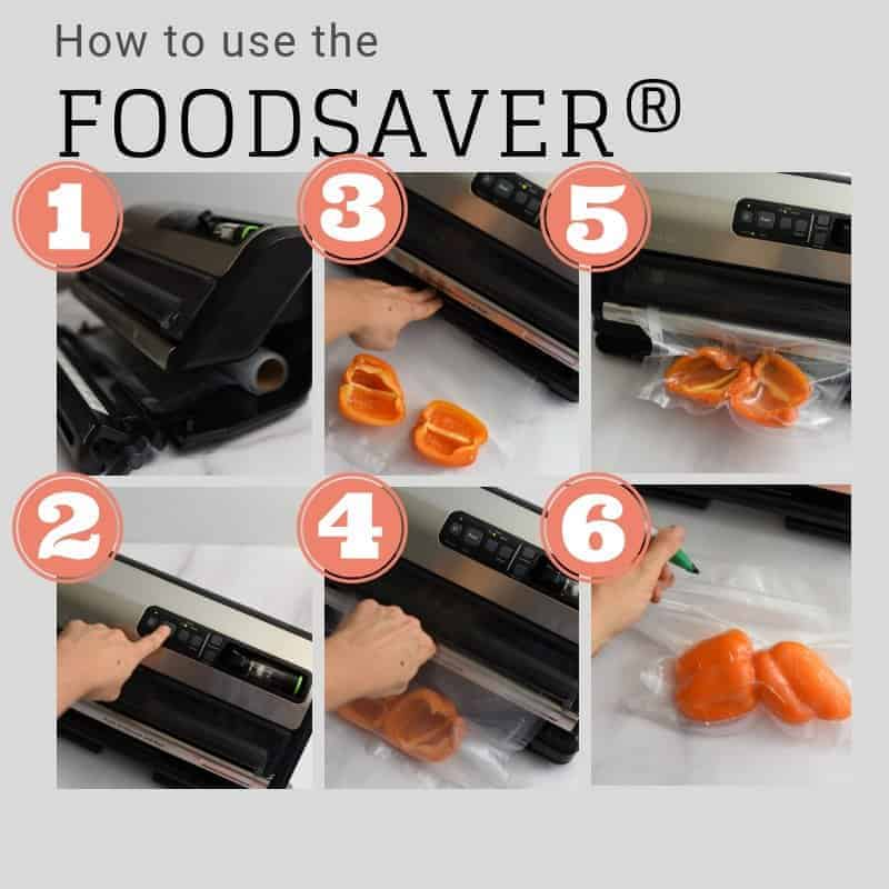 6 steps on using the FoodSaver®