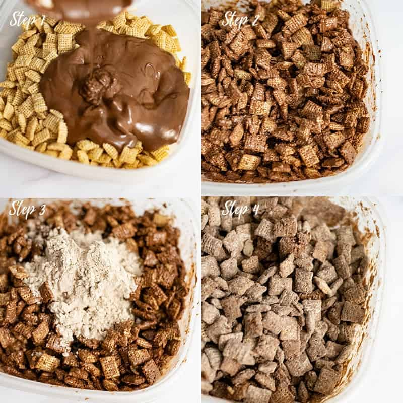 Four steps in making protein puppy chow