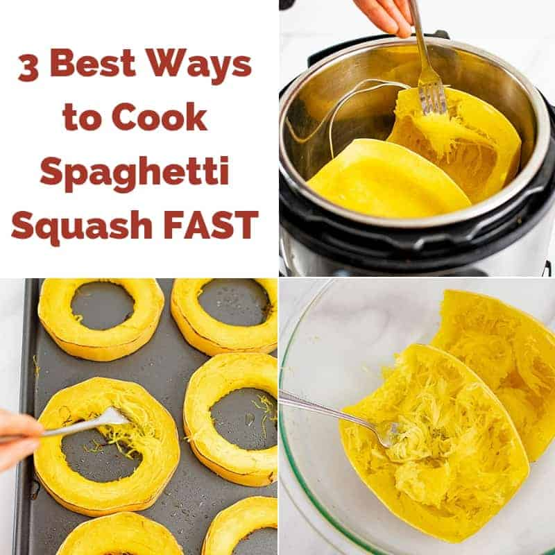 3 Best Ways to Cook Spaghetti Squash Fast collage