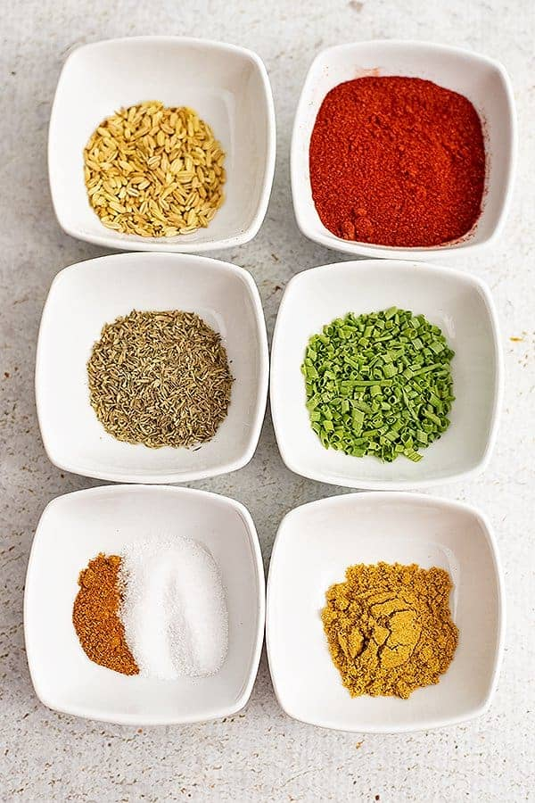 Cajun seasoning ingredients for cajun salmon sheet pan meal