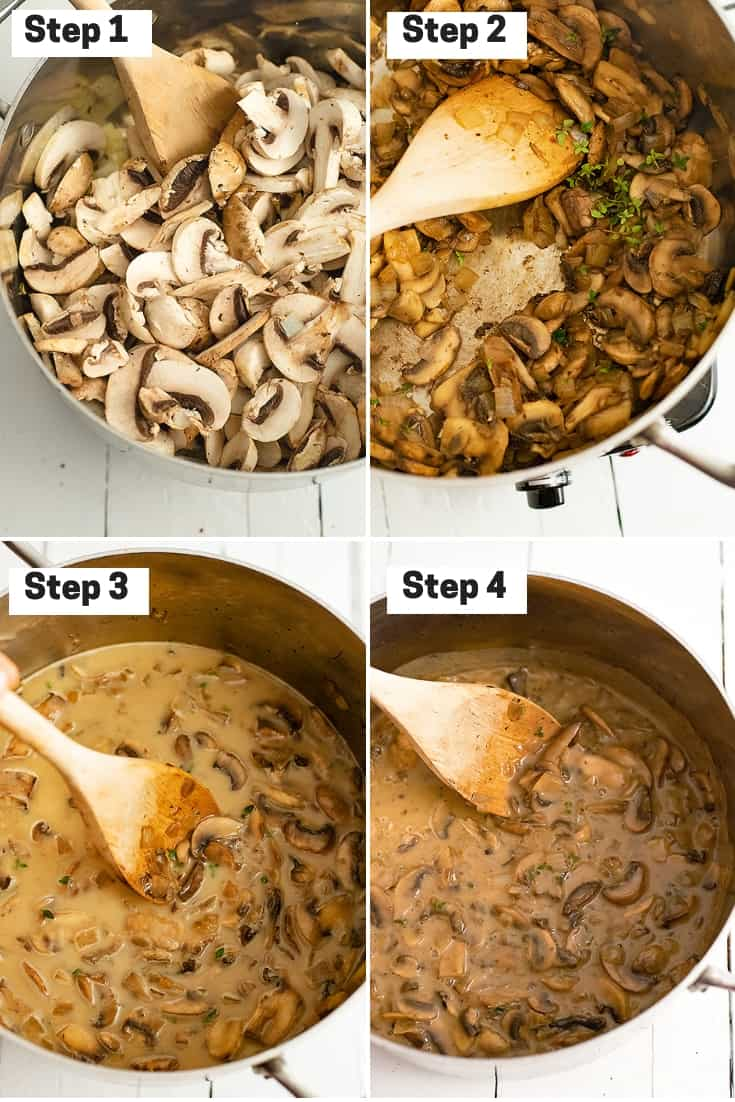 Steps for making the best ever mushroom soup