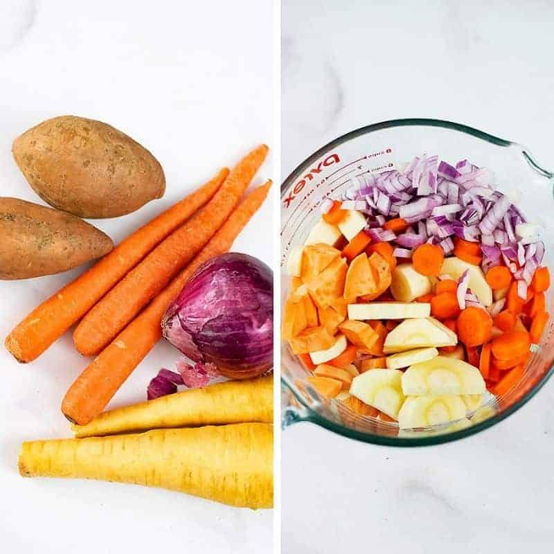 Root vegetable mix ingredients