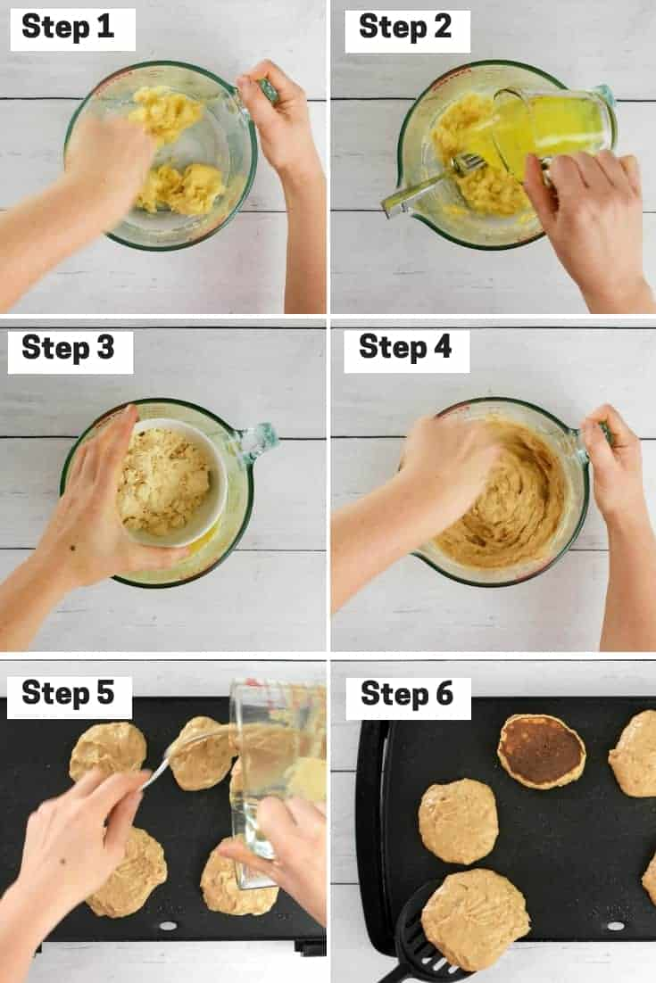 Steps on how to make protein pancakes