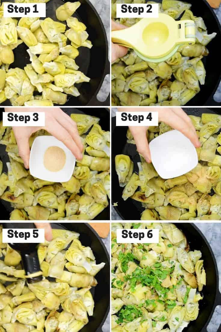 Steps on how to make simple lemon artichokes