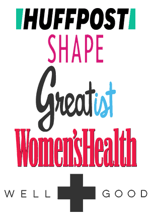 Bites of Wellness has been featured on shape, huffington post and women's health.