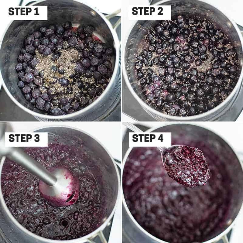 Steps on how to make homemade chia jam