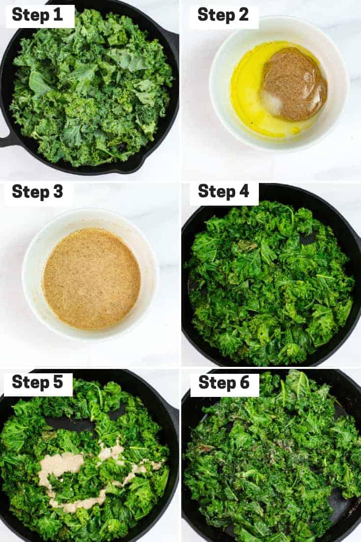 Steps on how to make creamy kale
