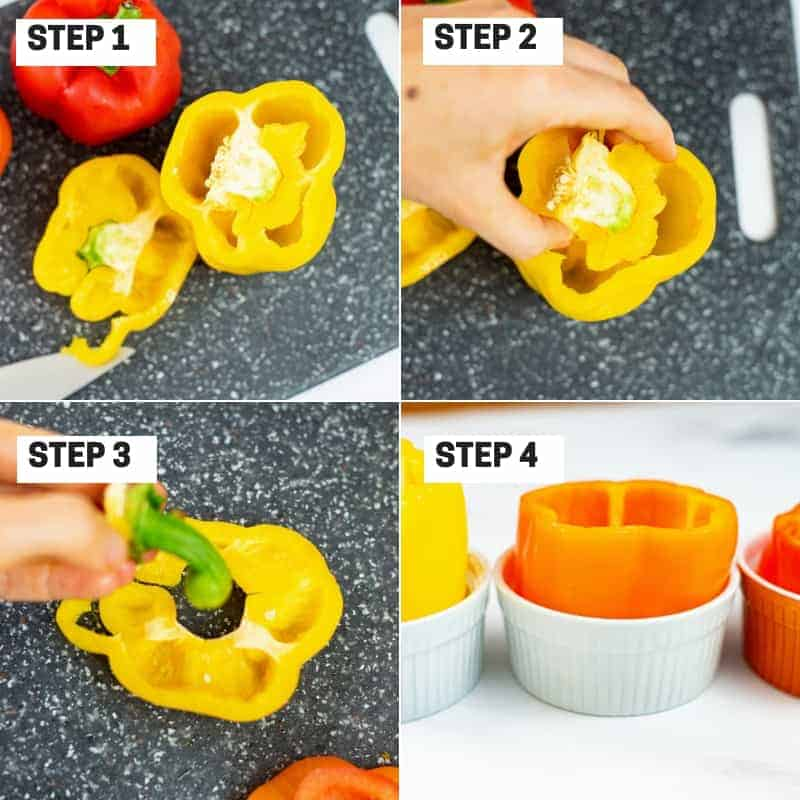 Steps to prepare a pepper for stuffing