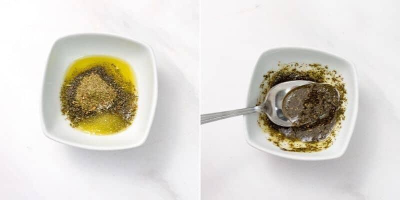 How to make the Italian rub for the salmon.