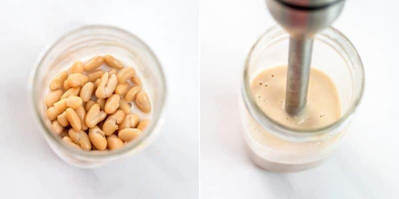 How to puree white beans.
