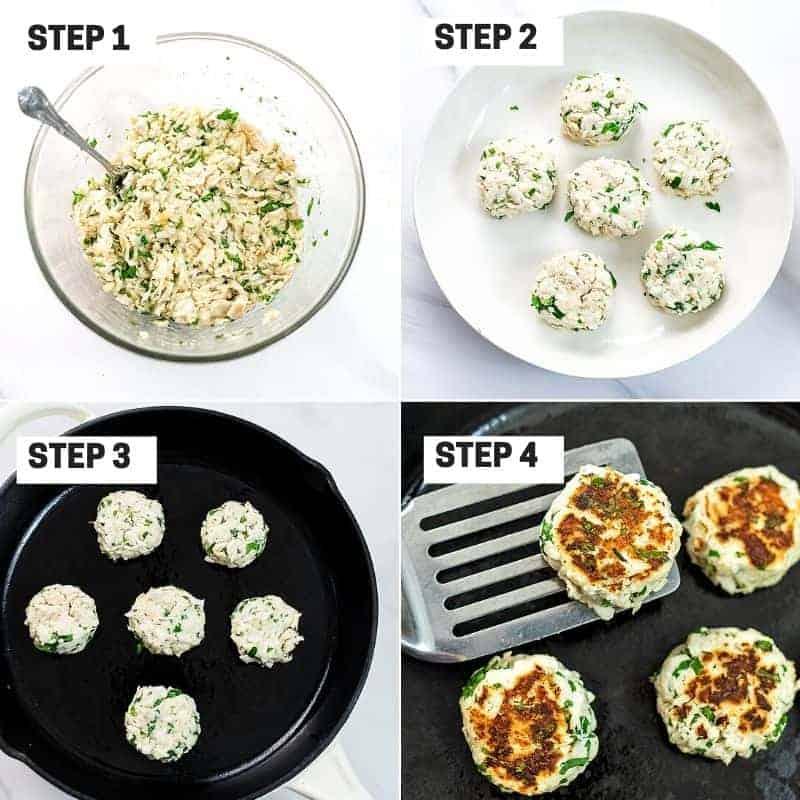 How to make paleo crab cakes.