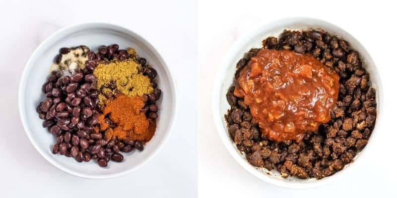 How to make black beans for nachos.