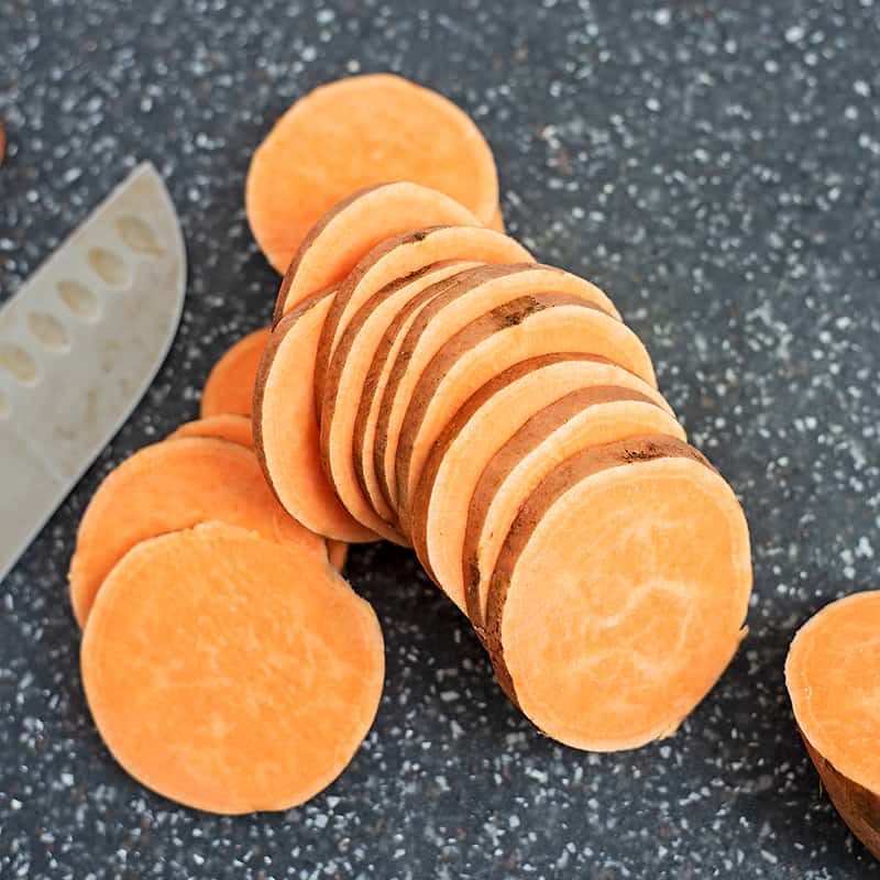 How to make sweet potato chips.
