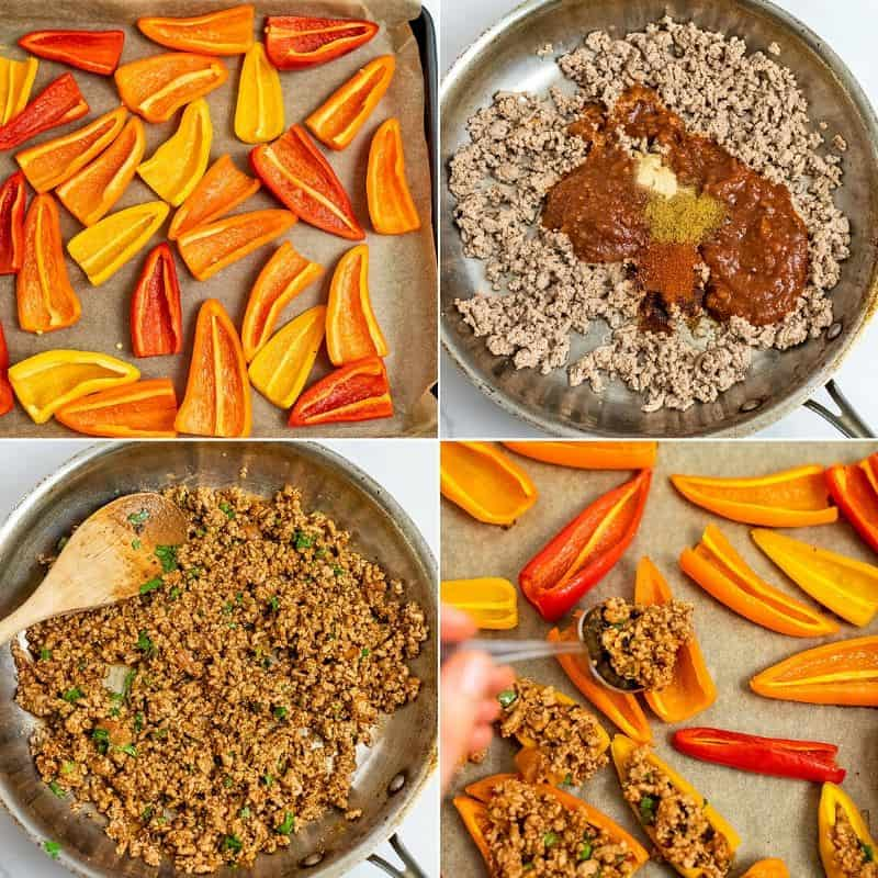 Steps on how to make mini pepper nachos.