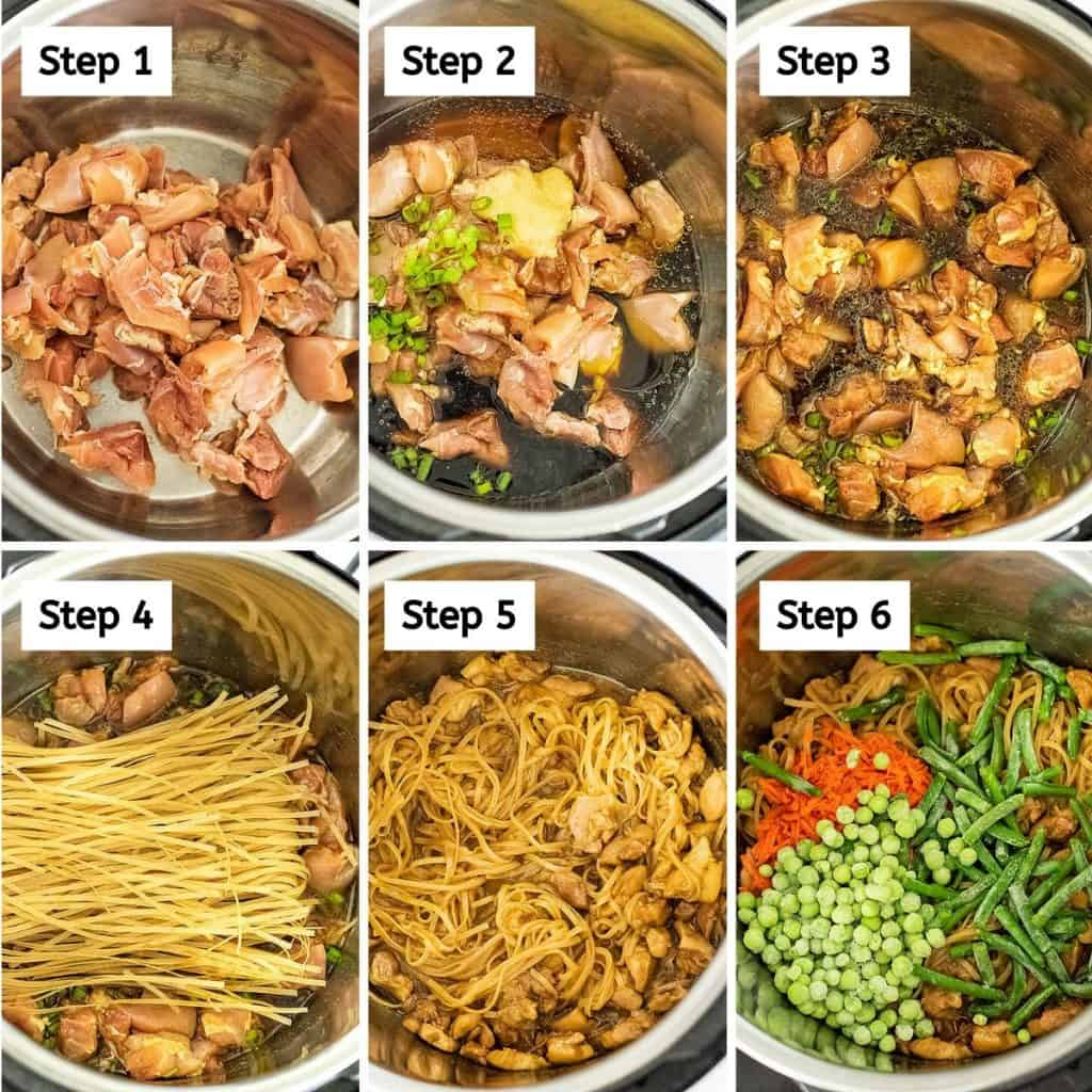 Steps to make Instant Pot Asian Chicken and Noodles