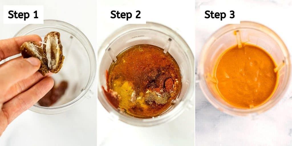 Steps to make vegan French dressing.